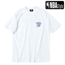 【NBA Style 2021 SS】 Oklahoma City Thunder スモールサイズロゴ ルーズフィット Tシャツ