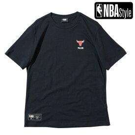 【NBA Style 2021 SS】 Chicago Bulls スモールロゴ レギュラーフィット Tシャツ / シカゴ・ブルズ