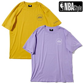 【NBA Style 2021 SS】 Championships Collection Los Angeles Lakers サークルロゴ ビッグシルエットTシャツ / ロサンゼルス・レイカーズ