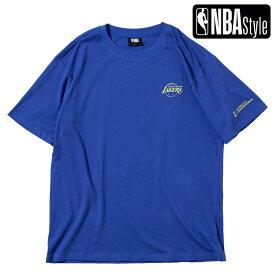 【NBA Style 2021 SS】 Championships Collection Los Angles Lakers チームロゴ ルーズフィットTシャツ / ロサンゼルス・レイカーズ