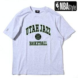 【NBA Style 2021 SS】 Utah Jazz アーチロゴ ルーズフィットTシャツ / ユタ・ジャズ