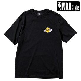 【NBA Style 2021 SS】 Los Angeles Lakers スモールサイズロゴ ルーズフィット Tシャツ
