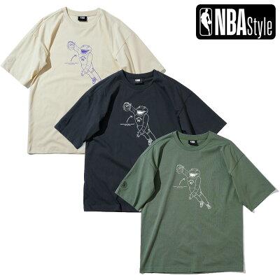 【NBAStyle2021SS】TorontoRaptorsチームマスコットルーズフィットTシャツ/トロント・ラプターズ