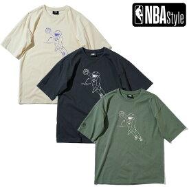 【NBA Style 2021 SS】 Toronto Raptors チームマスコット ルーズフィットTシャツ / トロント・ラプターズ