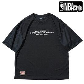 【NBA Style 2021 SS】 Hardwood Classics Los Angeles Lakers ミニアートワークロゴ メッシュ オーバーサイズTシャツ / ロサンゼルス・レイカーズ
