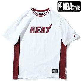 【NBA Style 2021 SS】 Champions Collection Miami Heat チームロゴ ルーズフィットTシャツ / マイアミ・ヒート