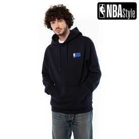 【NBA Style 2020 A/W】NBA ロゴ ルースフィット フーディー(パーカー) / ダークネイビー /