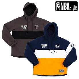 【NBA Style 2020 A/W】Golden State Warriors Color Blocked アノラックフーディー(パーカー) / ゴールデンステート・ウォリアーズ /