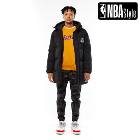 【NBA Style 2020 A/W】Los Angeles Lakers チームロゴ ダウンジャケット / ロサンゼルス・レイカーズ /