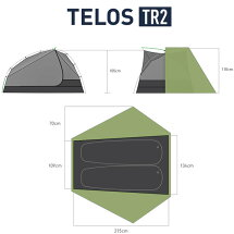 SEATOSUMMIT(シートゥサミット)テロスTR2テントST87005