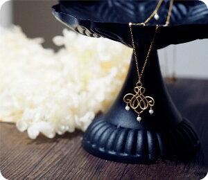 淡水パール&魔法の符号 ロング ネックレス <magic sign&pearl>happiness long necklace 6月誕生石 RALULU.SHU ハンドメイド 14KGF ゴールドフィルド