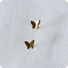 ミニバタフライ 蝶々のピアス セカンドピアス 片耳用 ゴールド色 RALULU.SHU