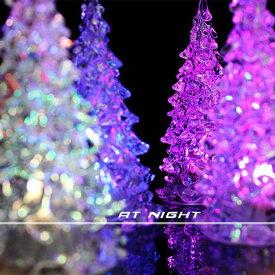 光るミニクリスマスツリー 7色に光る アクリルツリー 卓上サイズ クリスマスイブ クリスマス プレゼント クリスマスツリー サンター ledクリスマスツリー