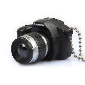 カメラのキーホルダー 光る音鳴る [ キーホルダー ] LED光&リアルなシャッター音 おもしろ雑貨 小型一眼レフ型キーホルダー カメラキーホルダー》ライトが光ります!シャッター音もなります アイディア商品 カメラのキーホルダー