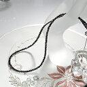 【K18WG】ブラックダイヤモンドネックレス30ctアップ【AAAクラス】ブラックダイヤ