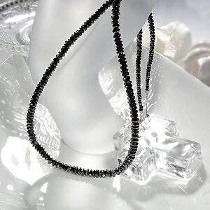 人気 ブラックダイヤモンドネックレス k18WG 50ctアップ ステップカット AAAAクラス ブラックダイヤ メンズ レディース 4月誕生石 ダイヤモンドネックレス
