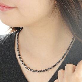 希少ミラーボールカット ブラックダイヤモンドネックレス 50ct 最高品質AAAA ロングタイプ ダブルワイヤー使用 レディース&メンズ ブラックダイヤ 50カラット迫力のボリューム 極上品