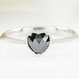 PT900ブラックダイヤモンドAAA(ローズカットハートシェイプ)0.40ctアップリング・ファッション・ジュエリー・アクセサリー・レディース・指輪・送料無料・ラッピング無料・ジュエリーケース付き・品質保証書付き