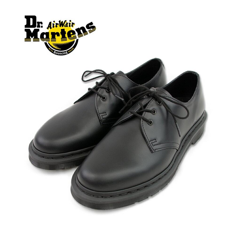 【ポイント10倍】【Dr.Martens ドクターマーチン】1461 MONO 3EYE GIBSON SHOE 3EYE BOOT(14345001) ブラック 3ホールブーツ ブラック メンズシューズ 革靴 レザーシューズ