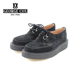 ポイント10倍【George Cox ジョージコックス】ブラックインターレース 3588 BLACK SUEDE ソール:ラバーソール メンズシューズ 革靴 カジュアル 紳士靴