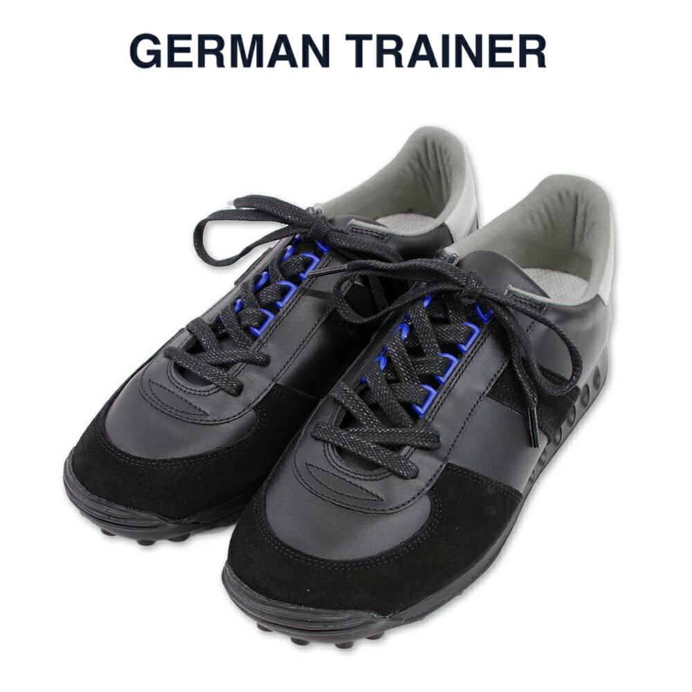 【GERMAN TRAINER ジャーマントレーナー】ローカット レースアップ スニーカー(1476) ブラック ハンドメイド スニーカー メンズ レディース シューズ カジュアル