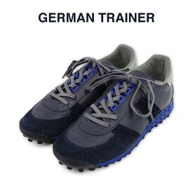 【GERMAN TRAINER ジャーマントレーナー】ローカット レースアップ スニーカー(1476) ネイビー ハンドメイド スニーカー メンズ レディース シューズ カジュアル