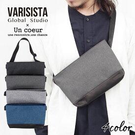 【Un coeur × VARISISTA Global Studio】(アンクール × ヴァリジスタ) / 撥水加工 サコッシュ ショルダーバッグ GJT (K908280)メンズ レディース【送料無料】