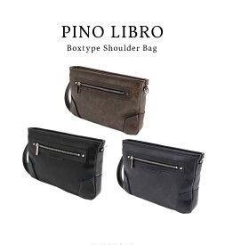 ピノリブロ 横型ショルダーバッグ(2PL6135) 軽量 シンプル 合皮 おすすめ 直営店 メンズバッグ ビジネスバッグ 送料無料