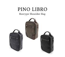 ピノリブロ 縦型BOXショルダーバッグ(2PL6136) 軽量 シンプル 合皮 おすすめ 直営店 メンズバッグ ビジネスバッグ