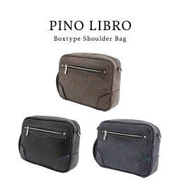 ピノリブロ 横型BOXショルダーバッグ(2PL6137) 軽量 シンプル 合皮 おすすめ 直営店 メンズバッグ ビジネスバッグ