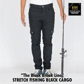 The Black Break Line The Backwater バックウォーター STRETCH FISHING BLACK CARGO フィッシングカーゴ BW-403VMBB 岡山産 撥水加工 カーゴパンツ タックルケース プライヤー ランディンググリップ 釣り ジーンズ 日本製