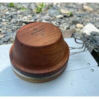 ダックノット(Ducknot)シェラスタウッドカップキャンプアウトドア焚火軽量ボウル代わりカップカバー器