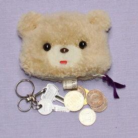 コインケース クマ かわいい 小銭入れ ぬいぐるみ ラム キーケース 小物