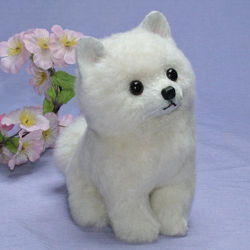 ぬいぐるみ 犬 ぬいぐるみ子犬 白子犬