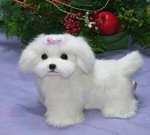 マルチーズ ぬいぐるみ ぬいぐるみ犬 ハンドメイド オリジナル品 プレゼント ギフト 毛皮 猫 クマ