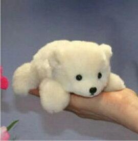 2/這い型白くま ギフト ハンドメイド ファークラフト社製 ぬいぐるみ犬 ネコ パンダ うさぎ ギフト リアル毛皮 作家手作り品 ハンドメイド