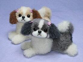 母の日ギフト プレゼント ギフト シーズー ぬいぐるみ 犬 伏せ型シーズー シーズーグッズ 犬