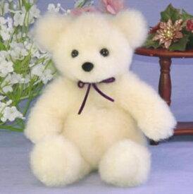 抱き型テディベア ファークラフト社製 ぬいぐるみ ハンドメード オリジナル クマ テディベア 毛皮 ラム