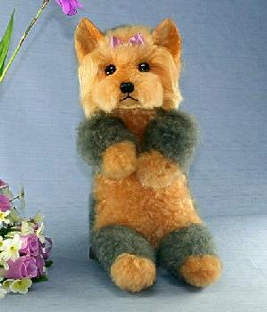 抱き型ヨークシャーテリア ファークラフト社製 ぬいぐるみ ハンドメード オリジナル イヌ