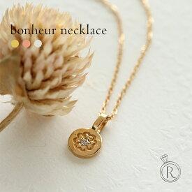 K18 ボヌール ダイヤ ネックレス トップ しあわせを運ぶクローバーとダイヤモンド レディース 首飾り necklace DIAMOND 18k 18金 ダイアモンド ペンダント 送料無料 プラチナ可 ラパポート