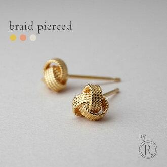 K18 blade piercing ◆ in the elegant form is signed classy K18 gold earrings 18 k 18 gold bullion pierce ladies K18 earrings 05P13Dec14
