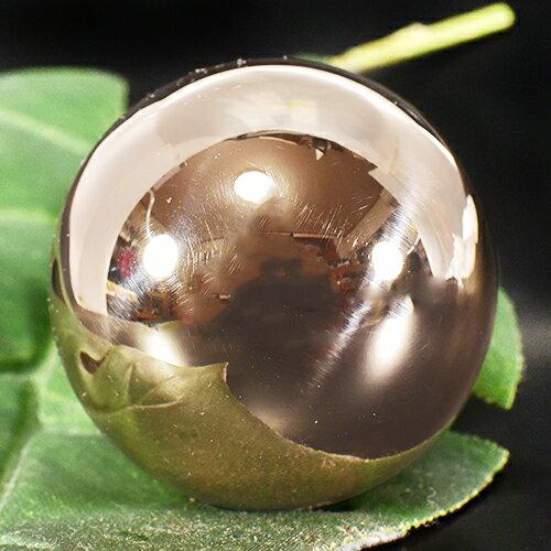 【限定品】メキシコ MUSICAL BALL ミュージカルボール シンプル ピンクゴールド コーティング 特大 40mm|ガムランボール|音玉|ミュージック|鈴|鐘(ベル)|オルゴール|