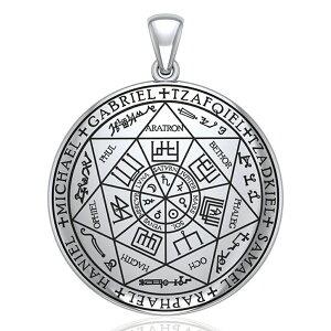 【PETER STONE】ソロモン王の鍵 7大天使の印章(Seal of Angel Raziel)シルバー ペンダントトップ|魔術書|シールオブソロモン|タリズマン|シルバー925【送料無料】