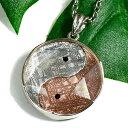 【一点物】【大サイズ】ギベオン隕石 インヤン(陰陽) 六芒星(ダビデの星) スターリングシルバー ペンダントトップ …