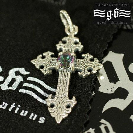 【goodvibrations】ミスティッククォーツ クロス(十字架) シルバー ペンダントトップ|シルバー925|グッドバイブレーション【メール便対応可】