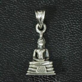 チベット密教 釈迦 スターリングシルバー ペンダント ミニ|シルバー925|純銀|ペントップ【メール便対応可】