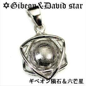 ギベオン隕石 六芒星(ダビデの星) スターリングシルバー ペンダントトップ|ソロモンの印|イスラエル|ユダヤ教|ダビデの星|メテオライト【送料無料】