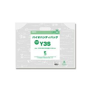 【メール便対応】レジ袋 HEIKO シモジマ バイオハンディバッグ Y3S ティータイム サイズ:厚0.03×幅320×高240(底マチ120)mm入数:100枚
