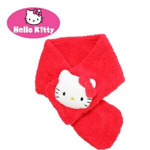 【Hello Kitty もこもこ マフラー 】キャラクター グッズ 女の子 女児 防寒 キッズ サイズ 子ども こども ぬいぐるみ キティ キティちゃん ハローキティ
