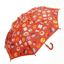 【アンパンマン 手開き 傘 レッド】幼児 赤 キッズ キャラクター 幼稚園 子供 学童 児童 雨具 こども 雨…